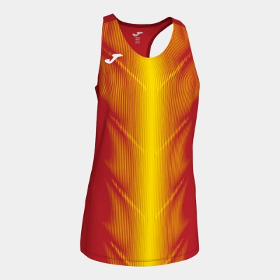 Tricouri Olimpia Red-yellow Sleeveless pentru Femei Joma