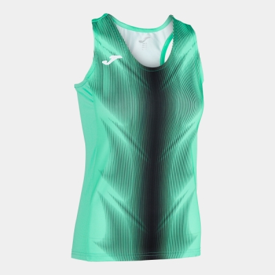 Tricouri Olimpia Green-black Sleeveless pentru Femei Joma