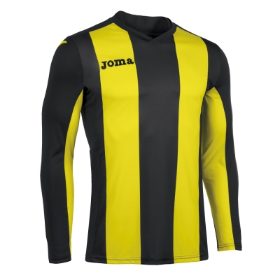 Tricouri Pisa V Black-yellow L/s Joma