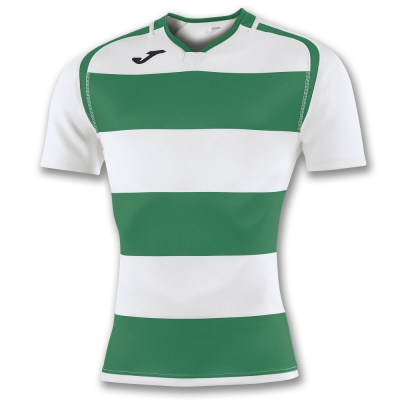 Tricouri Rugby Green-white S/s Joma