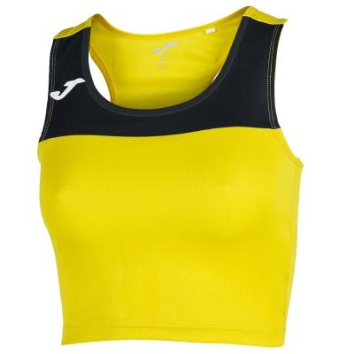Tricouri Race Yellow-black Sleeveless pentru Femei Joma