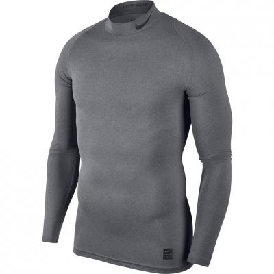 Tricouri Nike Pro Cool Compression Mock LS gray 838079 091