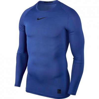 Tricouri Nike Pro Top Compression LS blue 838077 480