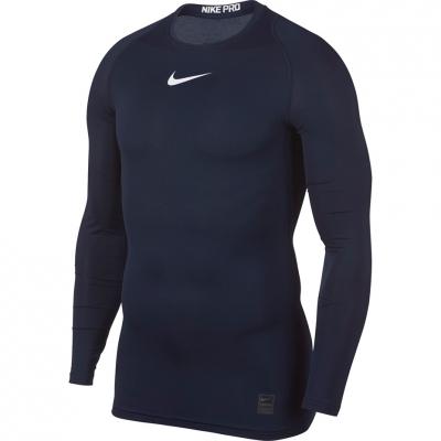 Tricouri Nike Pro Top Compression LS navy 838077 451
