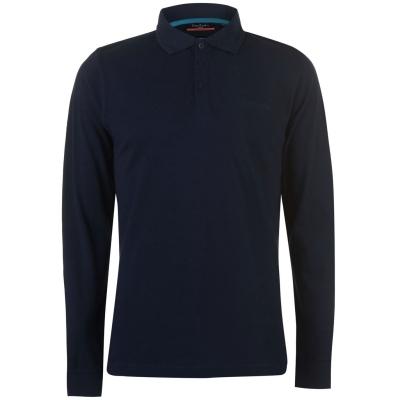 Tricouri Polo cu Maneca Lunga Pierre Cardin Plain pentru Barbati