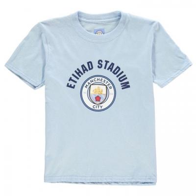 Tricouri Source Lab Manchester City FC Crest de baieti Junior