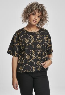 Tricouri AOP Luxury Print Short Oversized pentru Femei Urban Classics