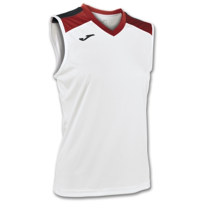 Tricou Volley White-red Sleeveless W. Joma