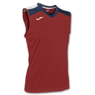 Tricou Volley Red-navy Sleeveless W. Joma