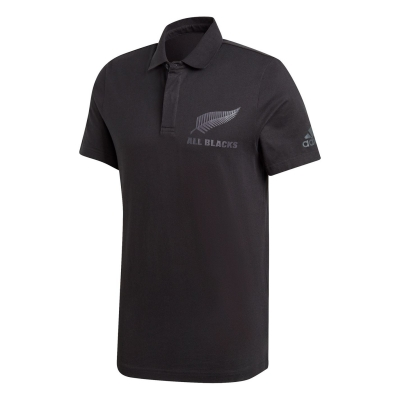 Tricouri Polo adidas All Blacks Support pentru Barbati