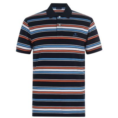 Tricouri Polo Gant Gant Stripe cu Maneca Scurta Rugger
