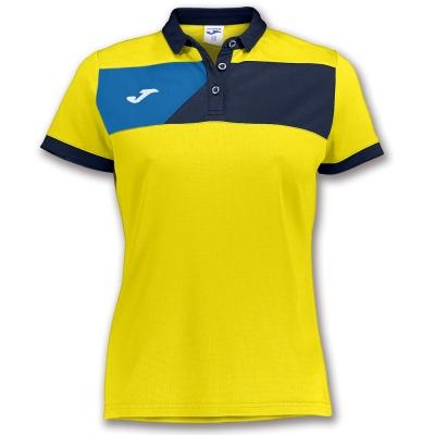 Polo Crew Ii S/s Yellow-navy pentru Femei Joma