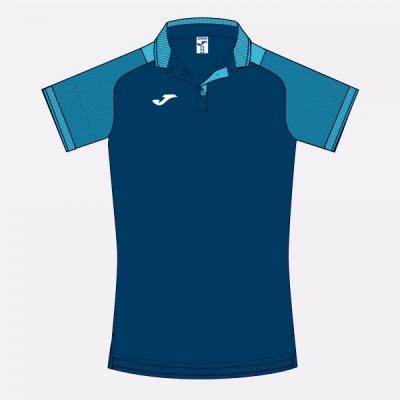 Essential Ii Polo Dark Navy-fluor Turquoise S/s Joma