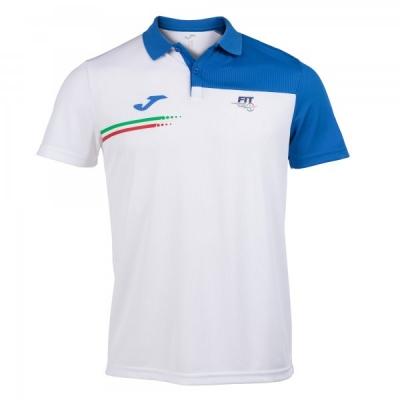 Polo Fed. Tennis Italy White S/s Joma