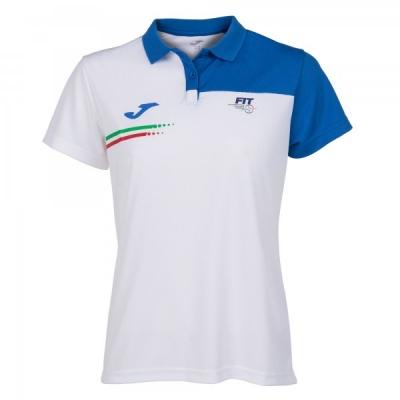 Polo Fed. Tennis Italy White S/s pentru Femei Joma