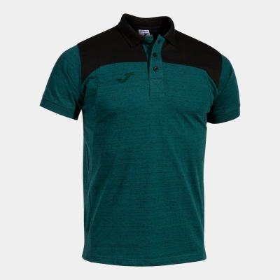 Tricouri Polo Winner Ii Cotton Green-black S/s Joma