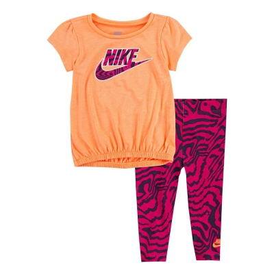 Tricouri Colanti Nike Bubble Tunic and Zebra Print Set