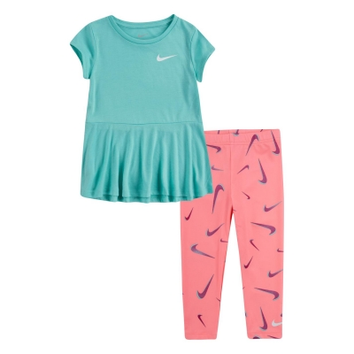 Tricouri Colanti Nike Tunic Peplum and Swoosh Print Set