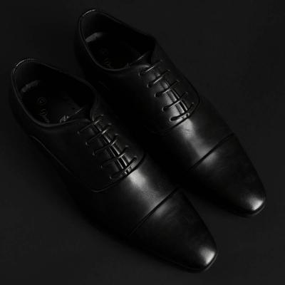 Pantofi siret Duca Di Morrone EMERY Negru