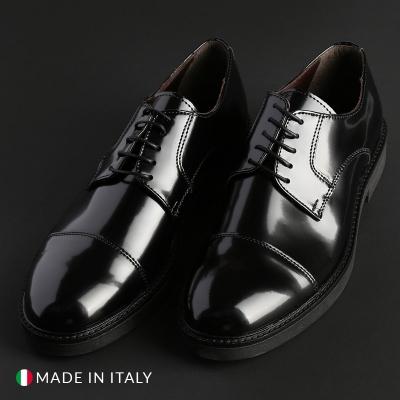 Pantofi siret Duca Di Morrone CL605_ABRASIVATO Negru