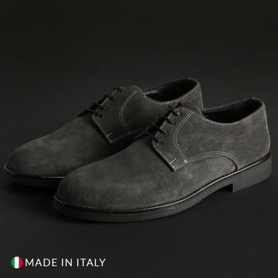 Pantofi siret Duca Di Morrone 058_CAMOSCIO Gri