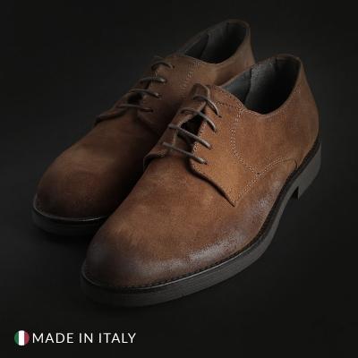 Pantofi siret Duca Di Morrone 058_CAMOSCIO Maro