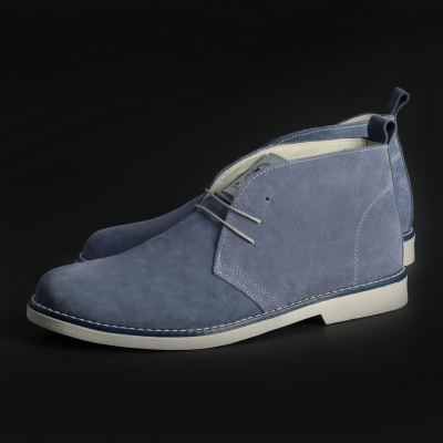 Pantofi siret Duca Di Morrone 221D_CAMOSCIO Albastru
