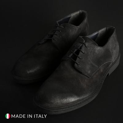 Pantofi siret Duca Di Morrone O58D_CAMOSCIO Gri