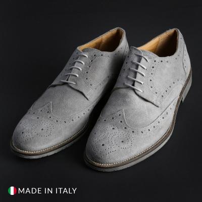Pantofi siret Duca Di Morrone 208D_CAMOSCIO Gri