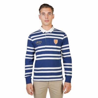 Tricouri polo Oxford University ORIEL-RUGBY-ML Albastru