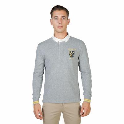 Tricouri polo Oxford University TRINITY-POLO-ML Gri